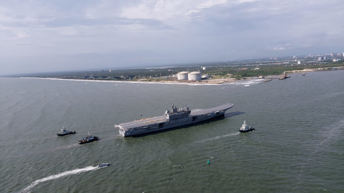 'Floating island': Onboard India's first indigenous aircraft carrier INS Vikrant